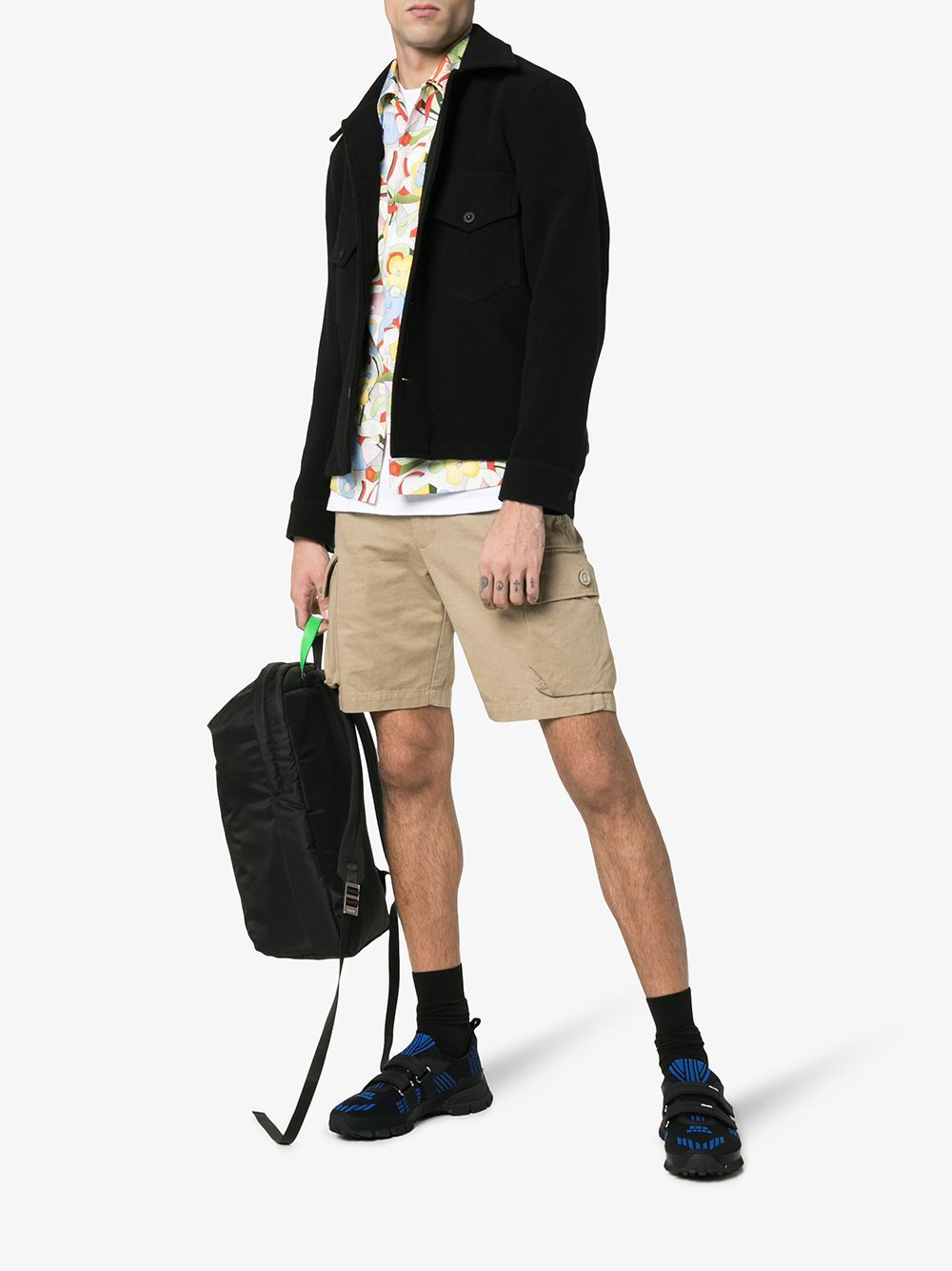 Prada Crossection Knit Black And Blue
