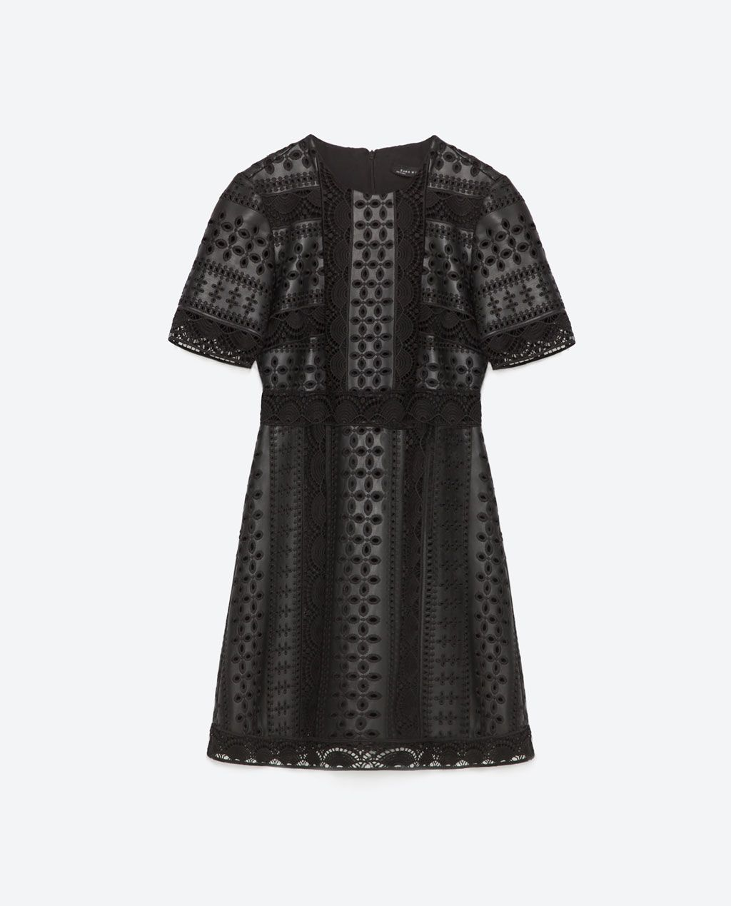 Contrast lace dress zara  EMBROIDERED DRESSDRESSESWOMAN  ZARA United States    My