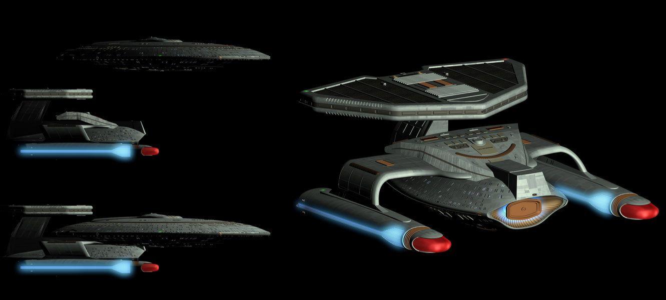 Uss enterprise ncc 1701 d galaxy class saucer separation r flickr - Star Trek Celebrating The Ships Of The Line Uss Bonchune Ncc 70915 The Uss Bonchune Ncc 70915 Was A Federation Nebula Class Starship That Served