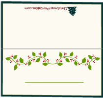 Elegant Christmas PlaceCards  Christmas Printables