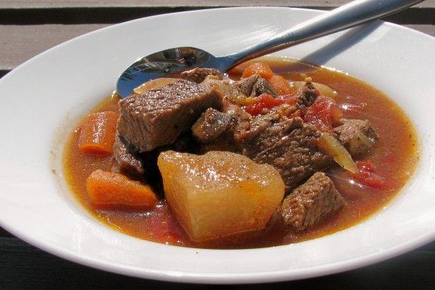 Leftover Roast Beef Stew Recipe Food Com Recipe Leftover Roast Beef Roast Beef Stew Leftover Roast Beef Stew