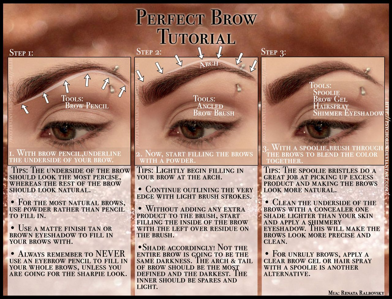 Perfect Brow Tutorial Brow Tutorial Perfect Brows Perfect Eyebrows