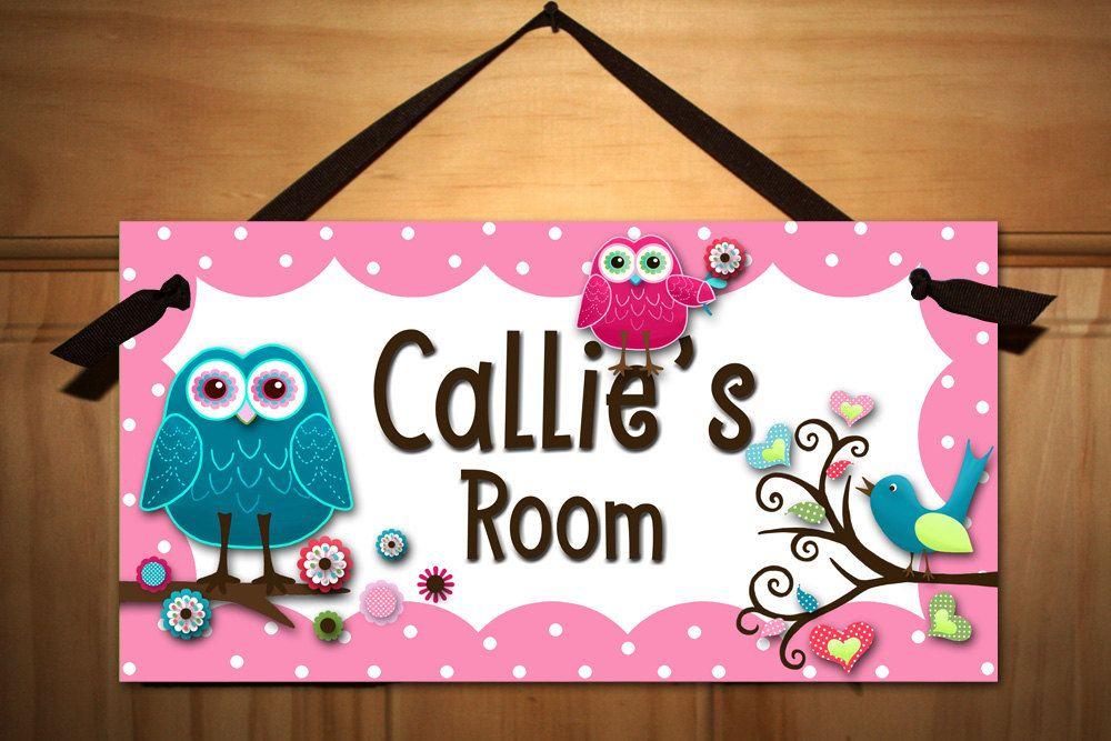 Hippie Chick Owls and Birdies Girls Bedroom and Baby Nursery Kids