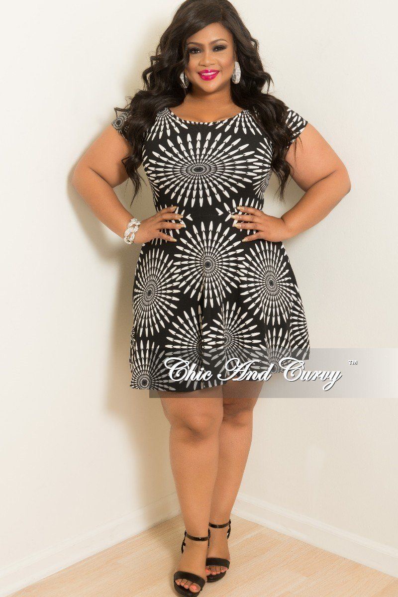 Baby pink plus size dress Final Sale Plus Size Baby Doll Dress in Black and White Circular