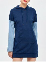 SHARE & Get it FREE | Denim Splits Sleeves Mini Hoodie DressFor Fashion Lovers only:80,000+ Items • New Arrivals Daily • Affordable Casual to Chic for Every Occasion Join Sammydress: Get YOUR $50 NOW!