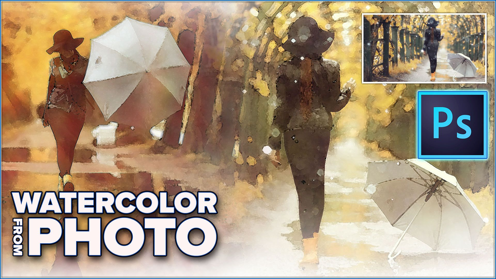 How To Turn Any Photo Into A Watercolor Painting In Photoshop