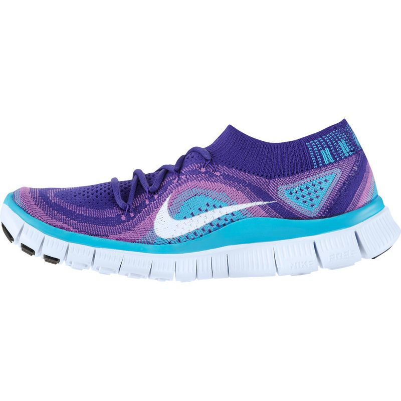 sports shoes a5242 f0c3d sale womens nike free flyknit 5.0 bright dodger blue laser purple hyper  white f3937 97b5d