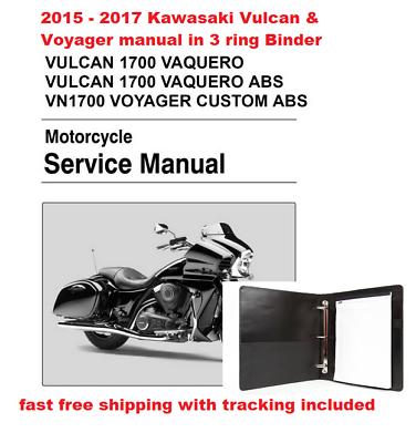 advertisement ebay kawasaki vulcan vaquero abs 1700 2015 2016 2017 service manual in binder kawasaki vulcan kawasaki vulcan pinterest