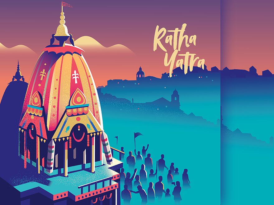 Ratha Yatra 2019 Indian Illustration Art Wallpaper