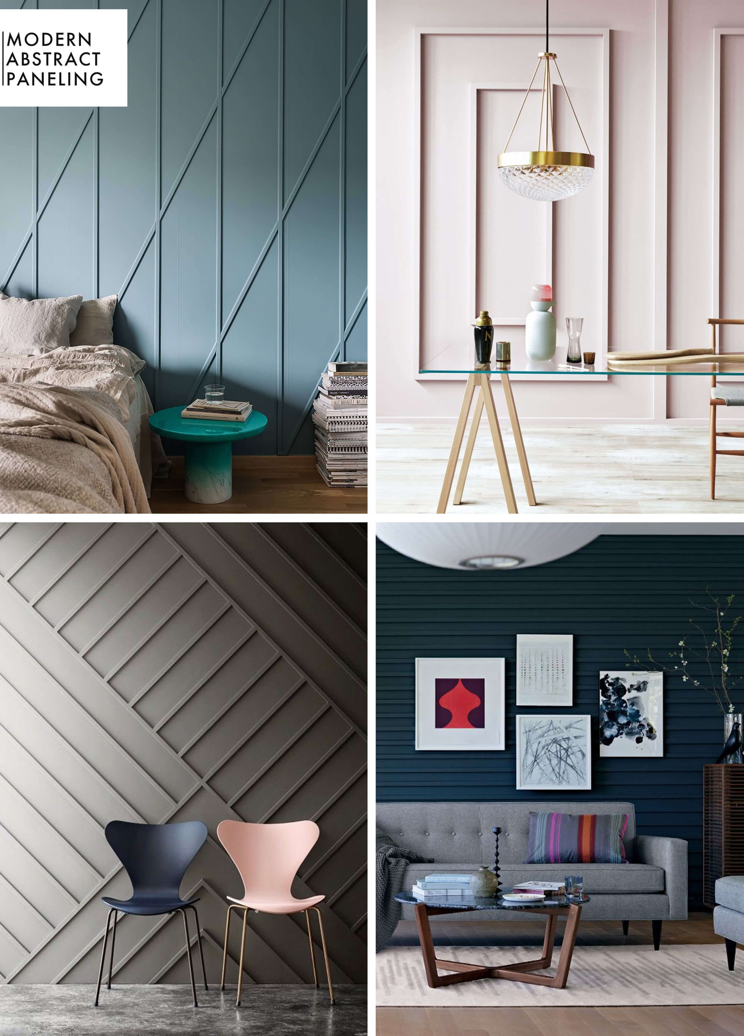 Abstract Room Designs: Add Character To Basic Architecture: Wall Paneling + A