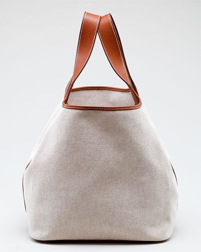Canvas & leather classic tote by Hermes