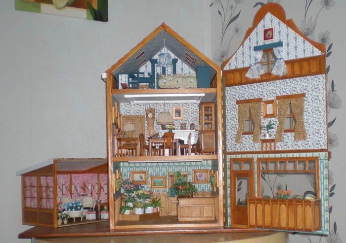 Binnenkant hele huis, ook dit huis heb ik zelf gemaakt!