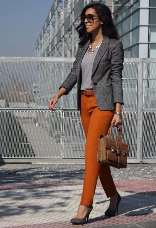 TANGERINE TANGO   #fashion #style #outfit  #look, Vintage in Bags, Etxart&Panno in Heels / Wedges, Zara in Pants