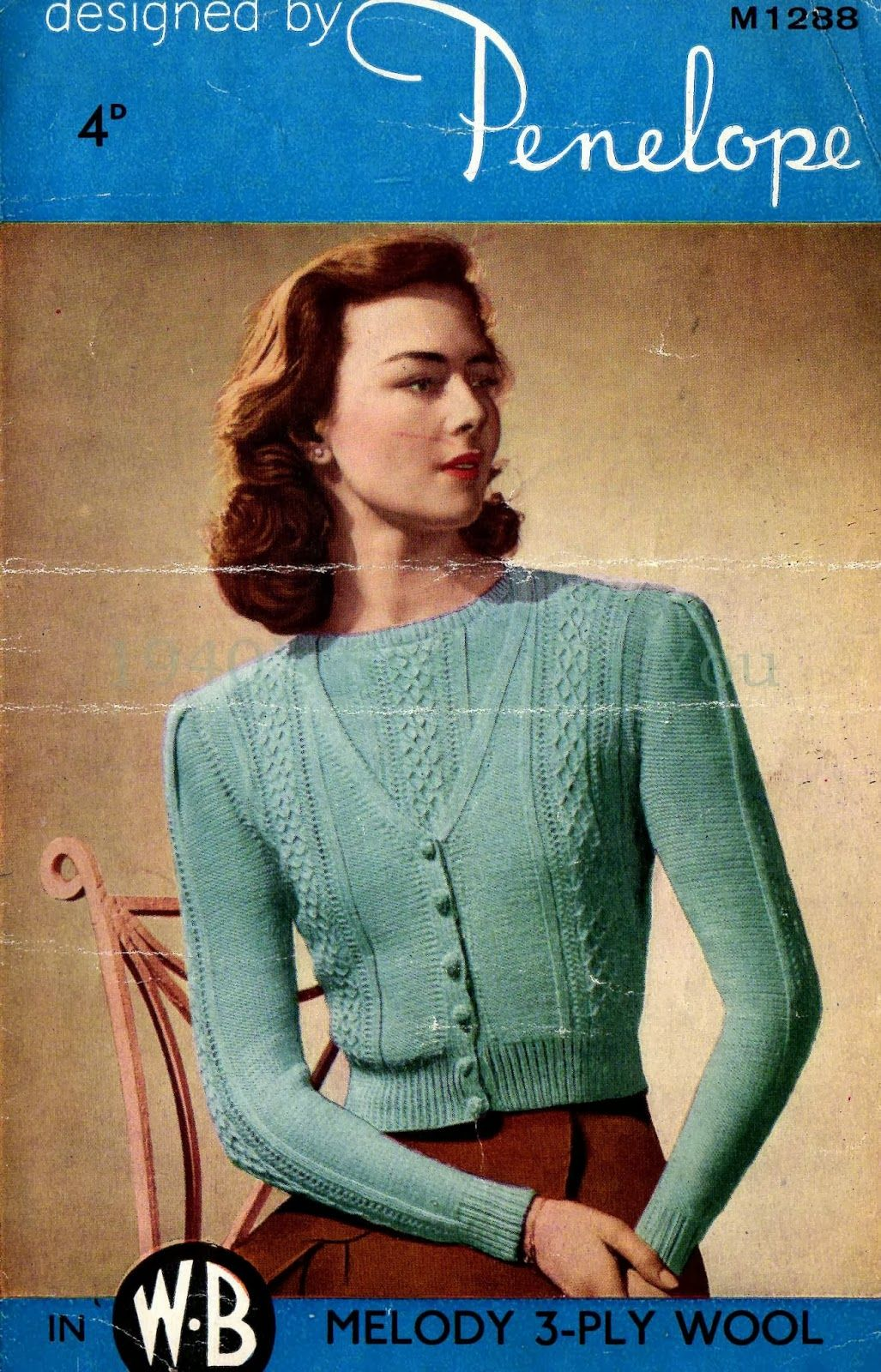 1940\'s Style For You: Free Knitting Pattern - 1940\'s wartime twinset ...
