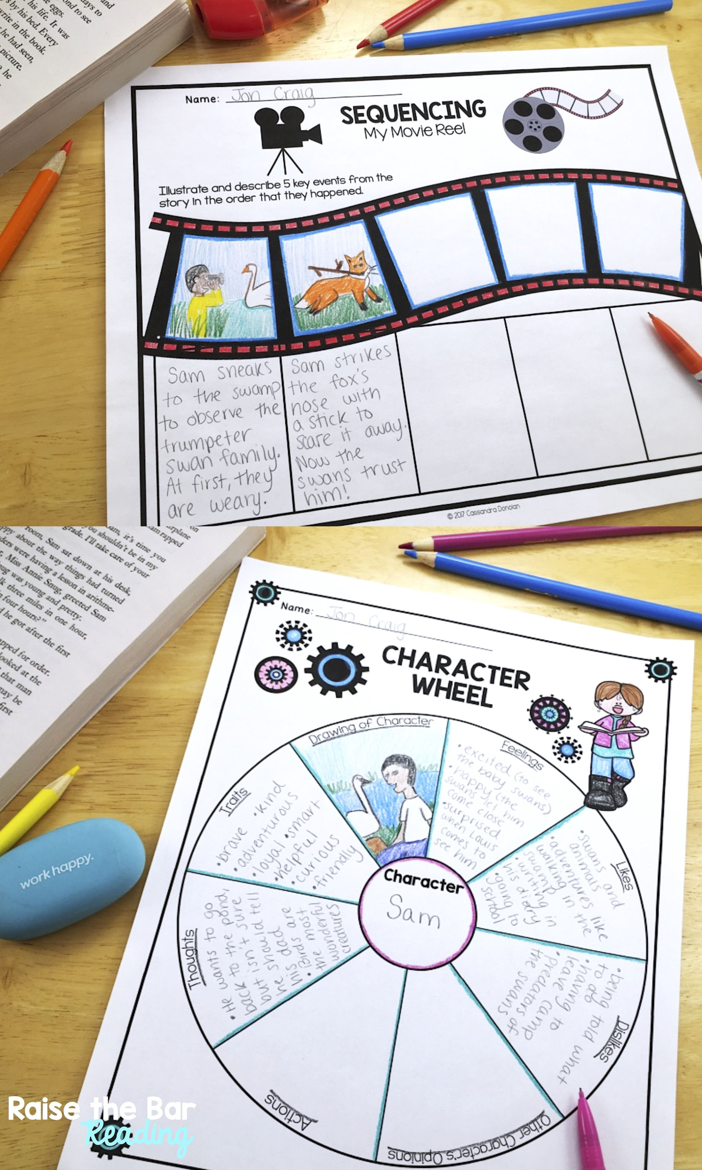 Reading Literature Or Fiction Graphic Organizers Reading