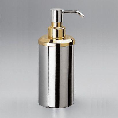 Accessories Contemporary Round Countertop Brass Soap Dispenser