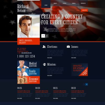 Political Candidate Responsive Website Theme