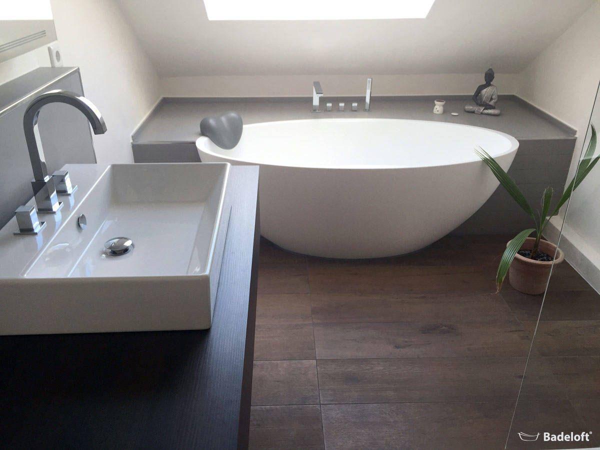 Bad Mit Freistehender Badewanne Und Begehbarer Dusche Freistehende Badewanne Badewanne Badezimmer
