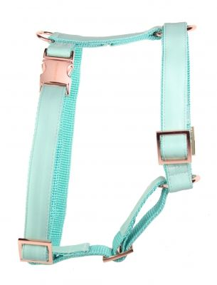 Fresh Mint Rose Gold Dog Harness From Www Prunkhund Com