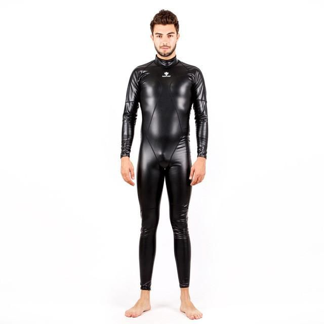 62257927a4 HXBY Full Body PU Waterproof One Piece Suits Swimwear Women Men Long Sleeve  Arena Competitive Swimming