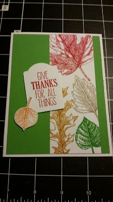 Stamp with Roberta: Vintages leaves- Give thanks for all things