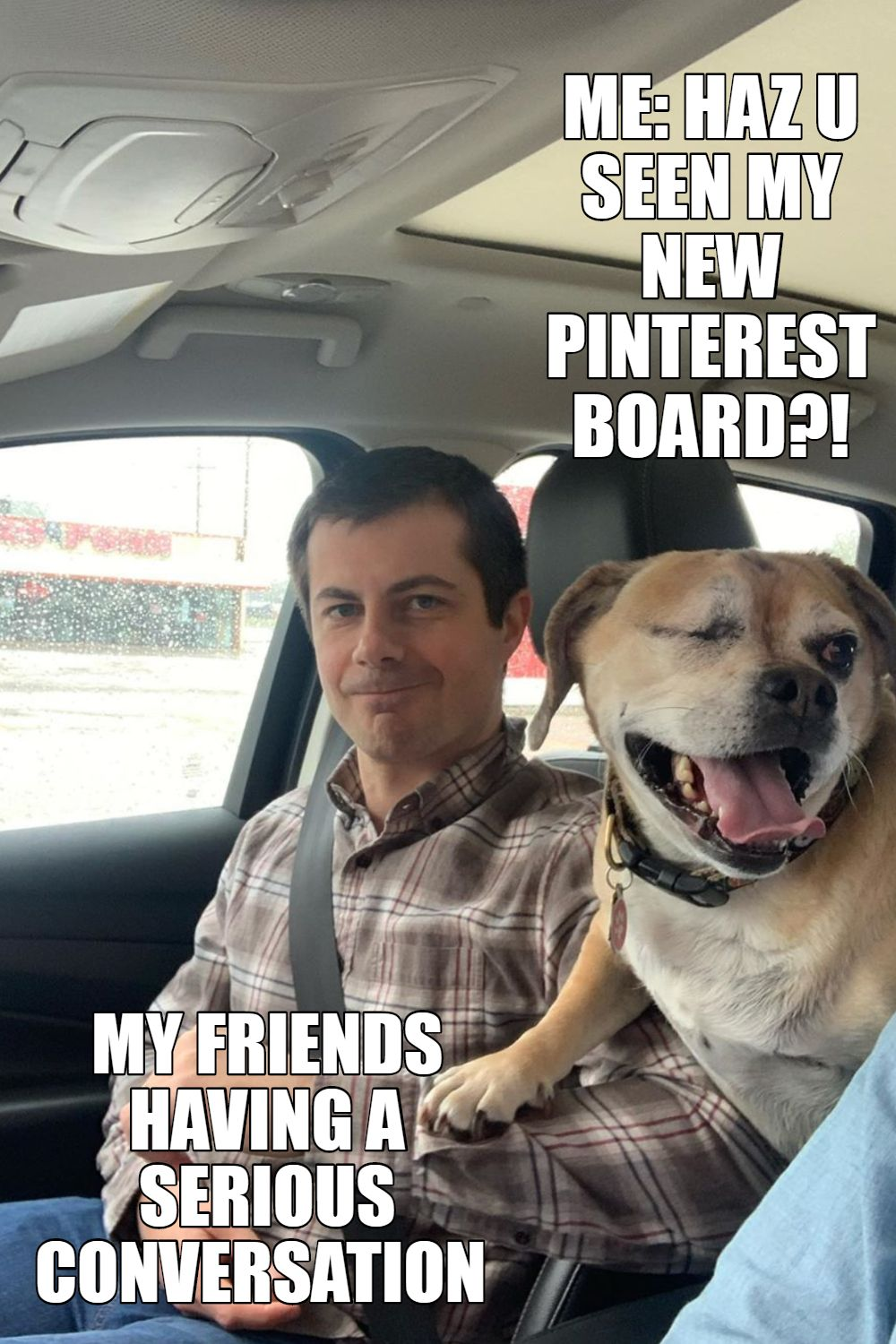 Pete Buttigeg Meme About Pinterest In 2020 Memes Puggle Cute Dogs