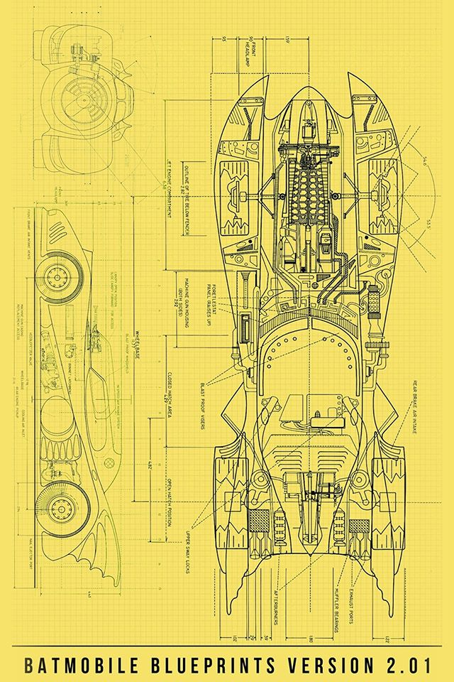 FreeiOS7 batmobile-blueprint freeios7 Famous rides - copy famous blueprint art