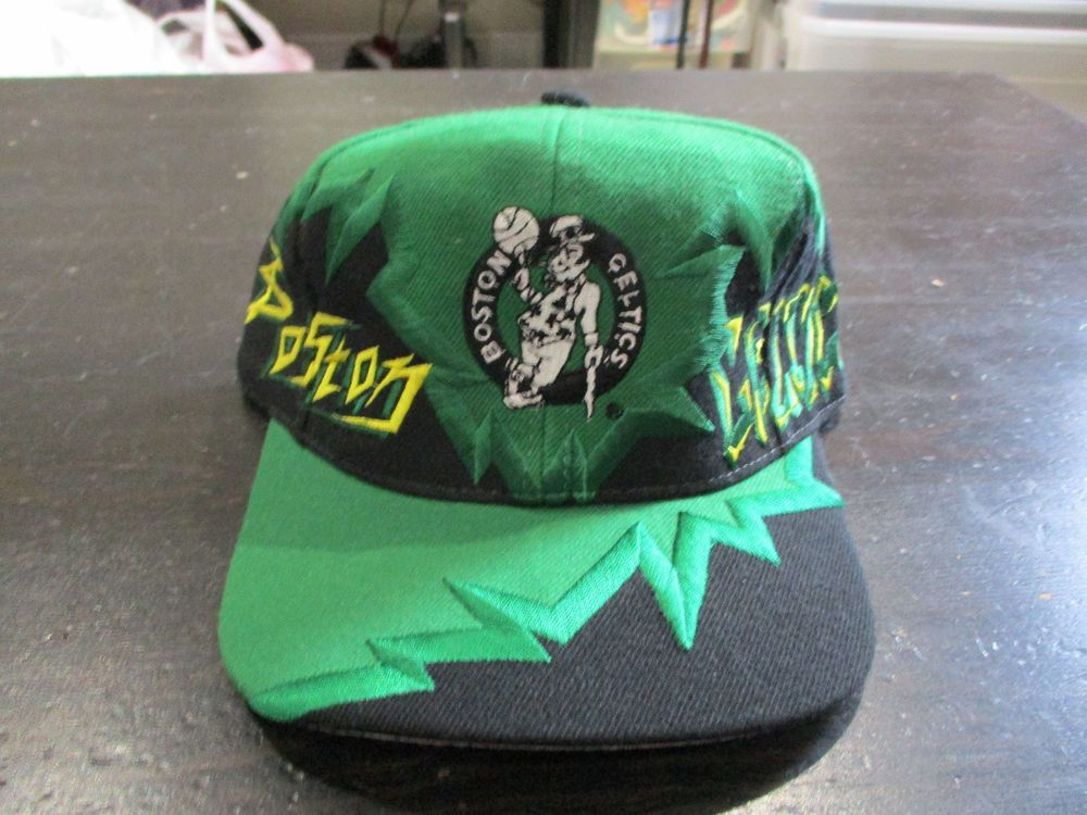 ec11adae NEW VINTAGE Drew Pearson Boston Celtics Snap Back Hat Cap Jagged Edge  Graffiti #DrewPearson #BaseballCap