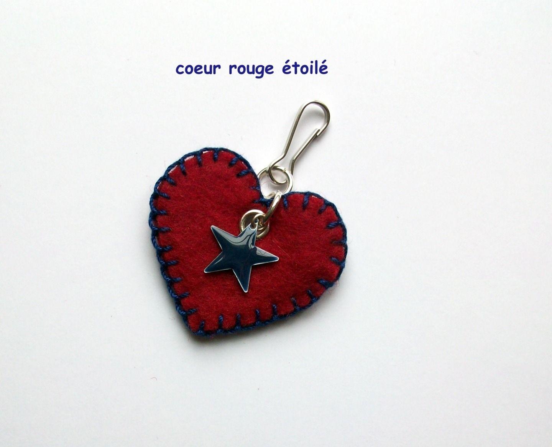 coeur rouge étoilé : Autres bijoux par les-bijoux-de-fadi