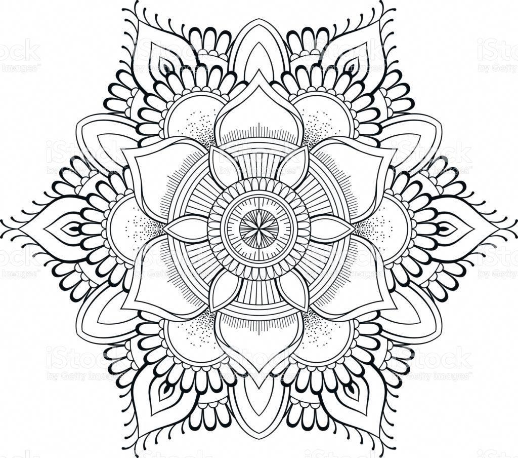 Flower Black Mandala Oriental Pattern Vector Illustration Islam Arabic Indian Ottoman Motifs Coloring Book Page Vetor E Ilustracao Royalty Free