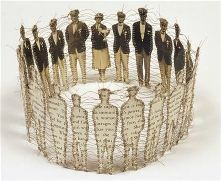 lisa kokin makes art with found materials. her work is so diverse that i had a difficult time deciding what to highlight.