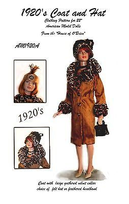 Tonner AM1920A 1920/'s Coat /& Hat pattern for American Model