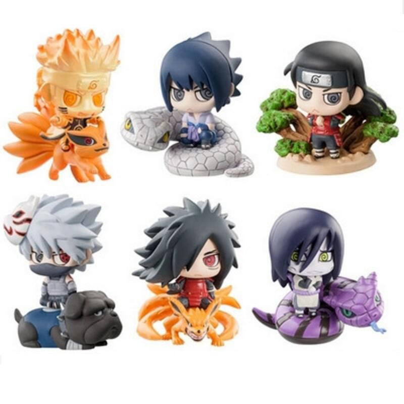 6 Pcs Lot Naruton Sakura Figures Pvc Toys Model Anime Children