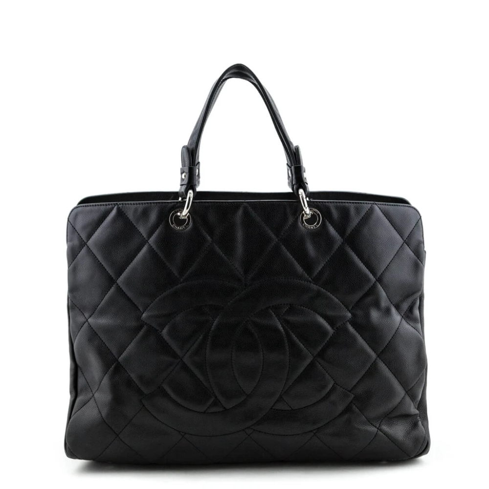 Chanel Black Soft Caviar Timeless CC Tote Chanel B