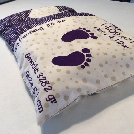 ein tolles geschenk zur geburt taufe oder zum geburtstag die kissen orientieren sich an den. Black Bedroom Furniture Sets. Home Design Ideas