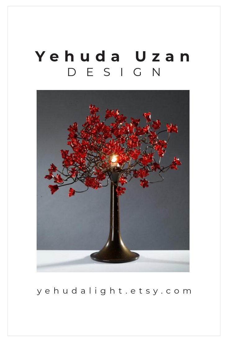 Red Table Lamp Bedside With Jumping Flowers And Metal Wiring A Wires Romantic Special Desk For Her Office Design Lighting