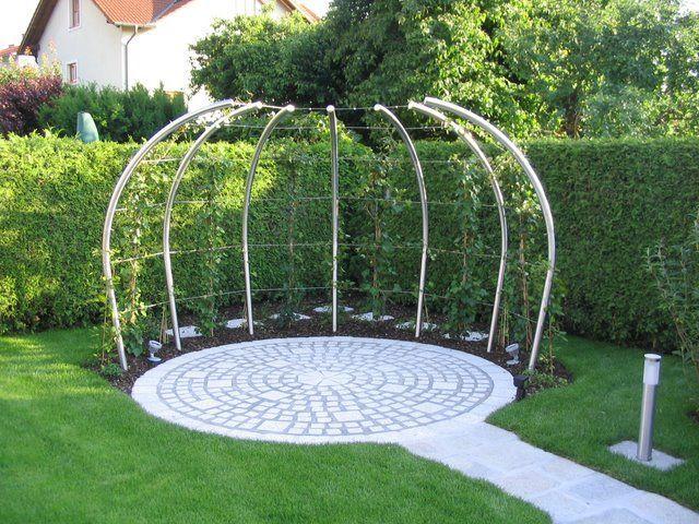 Gartenlaube, Gartenlaube, Edelstahl, Nirosta, Gartenhaus, Garten, Laube,  Gartenhütte