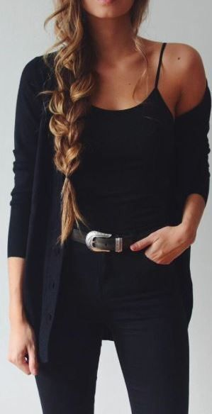 This All Black Outfit Is One Of The Best Cute Outfits Latest Outfits Fashion Cute Fall Outfits