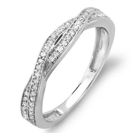 Love In0 25 Carat Ctw 10k White Gold Round Diamond Anniversary Wedding Round Diamonds Wedding Band Blue Sapphire Engagement Ring Halo Diamond Anniversary