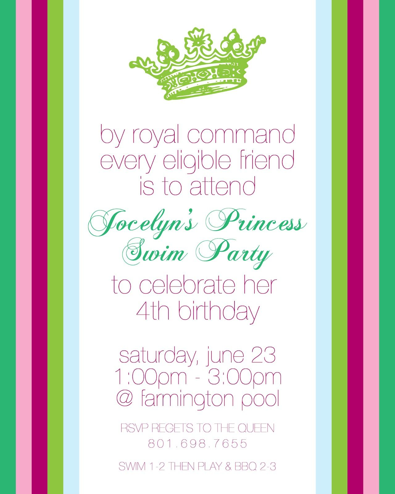 HiLLmark Design . princess birthday invitation | HiLLmark Design- my ...