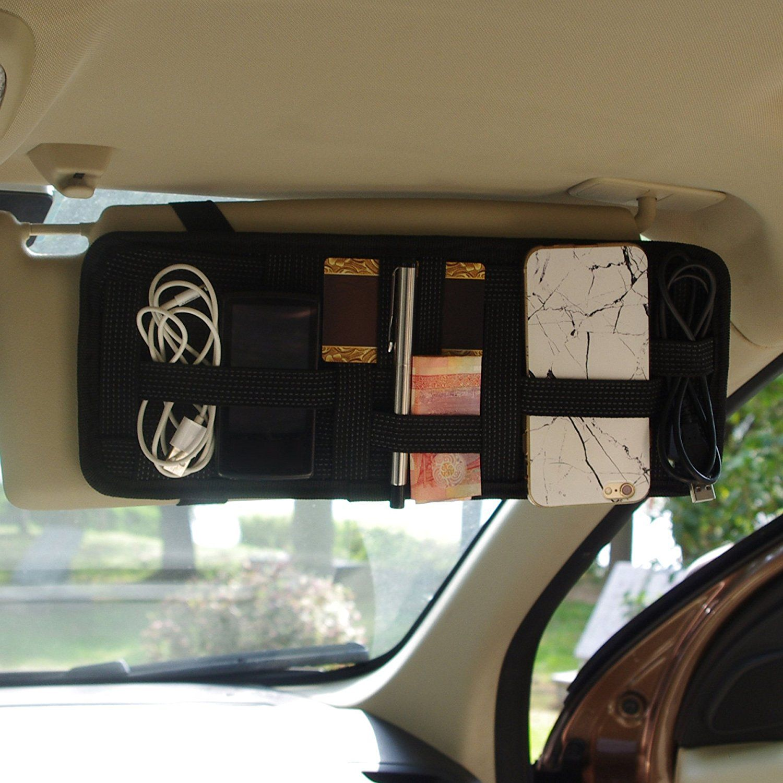Amazon.com  Car Visor Organizer Tactical Elastic Sun Visor Storage Board  Card Storage and Electronic Accessory Holder  Automotive 6e19016e4e1