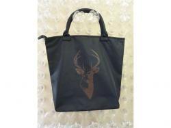 Pet - Bag hirschprint schwarz recycling black brown