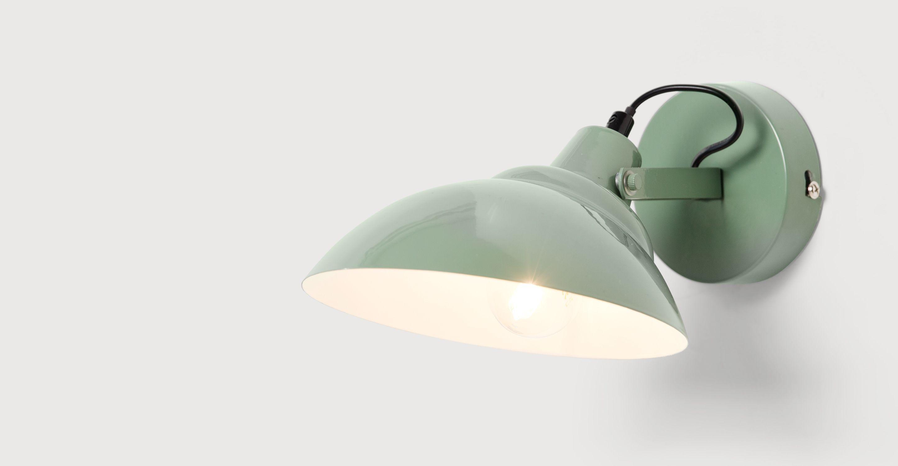Badezimmer Wandleuchten ~ Avery wandleuchte moosgrün lampe küche leuchten und badezimmer