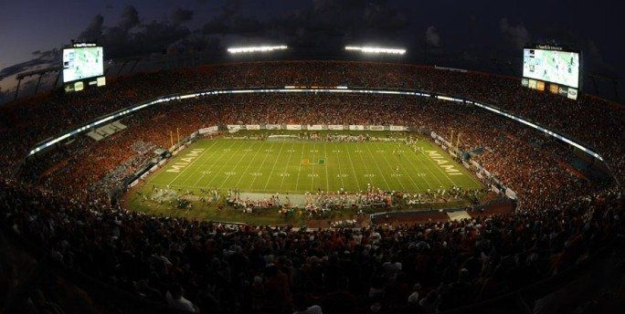 Sunlife Stadium Is Where The Hurricanes Dolphins Play University Of Miami Hurricanes University Of Miami Miami Hurricanes