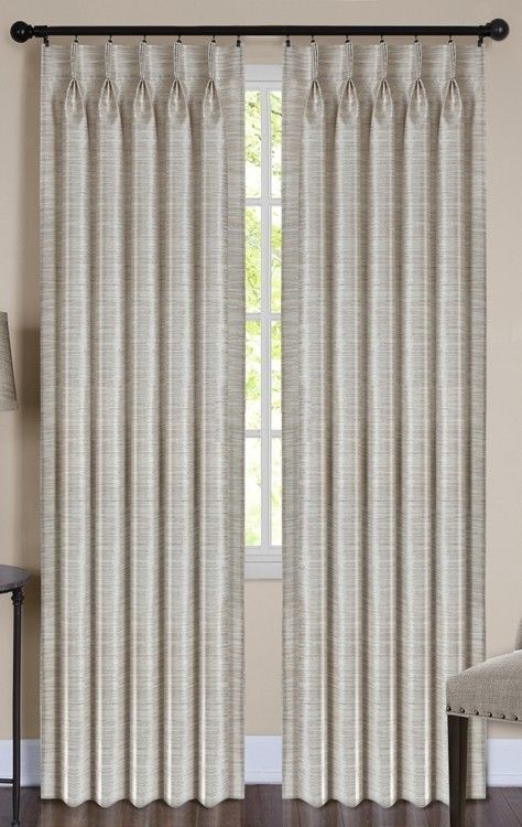 Parker Pinch Pleat Back Tab Curtain Panel Curtain Bath Outlet In 2020 Drapes Curtains Living Room Luxury Curtains Living Room Curtains Living Room