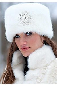 39c7d4db2 Russian Fur White Mink Hat | My Style | Russian hat, Fur accessories ...