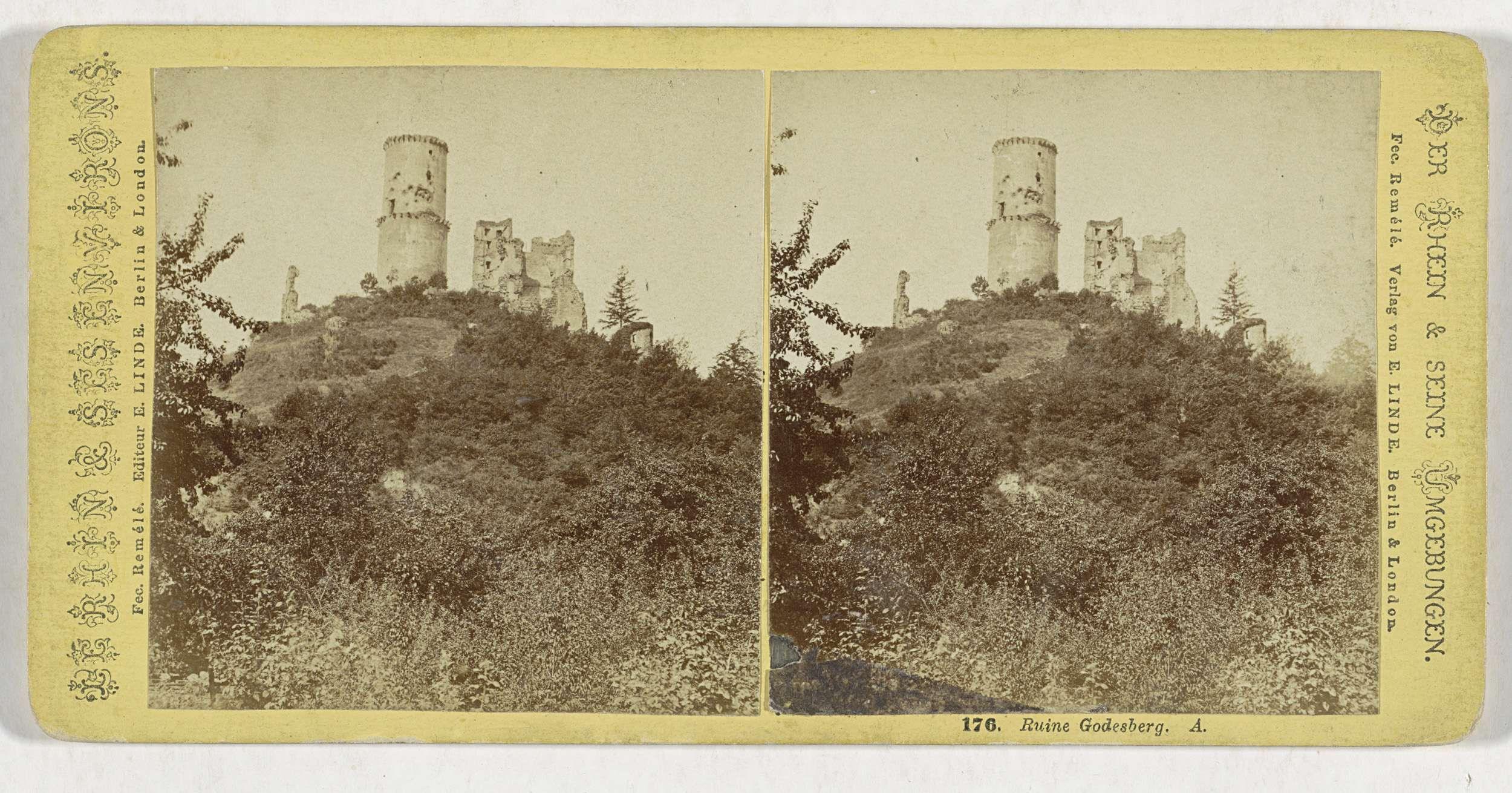 Remelé & E. Linde | Ruine Godesberg. A., Remelé & E. Linde, Philipp Remelé, E. Linde, 1860 - 1890 |