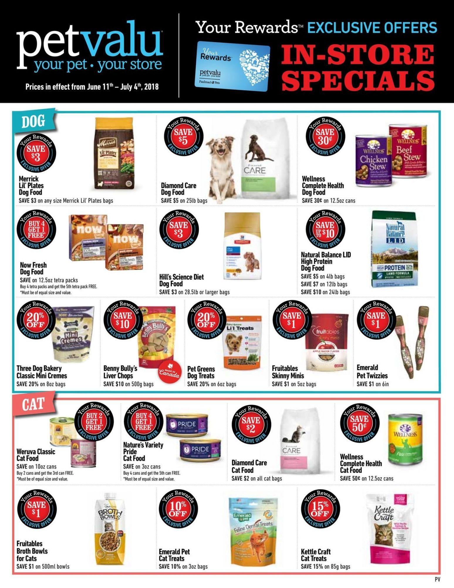 Flyer Pet Valu Canada From Monday June 11 2018 To Wednesday July 4 2018 Flyer Food Animals Wellness Dog Food