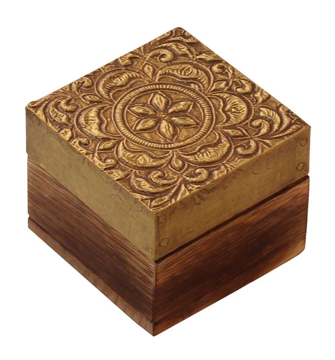 Bulk Wholesale HandCarved 25 Square Wooden Jewelry Box Trinket