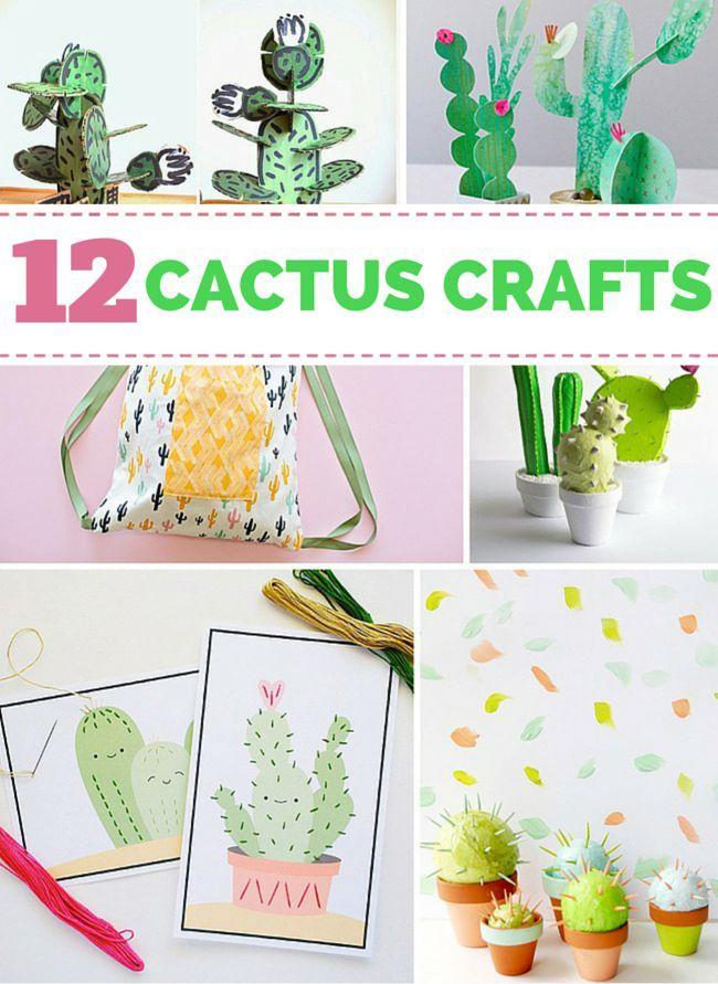 10 Creative And Cute Cactus Crafts Cactus Craft Crafts Creative Kids Crafts